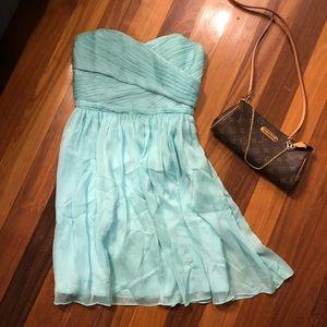 J Crew Mint Silk Chiffon Bridesmaid Dress